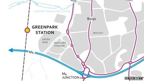 Planned location of Green Park