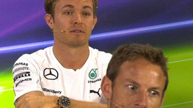 Mercedes' Nico Rosberg and Maclaren's Jenson Button