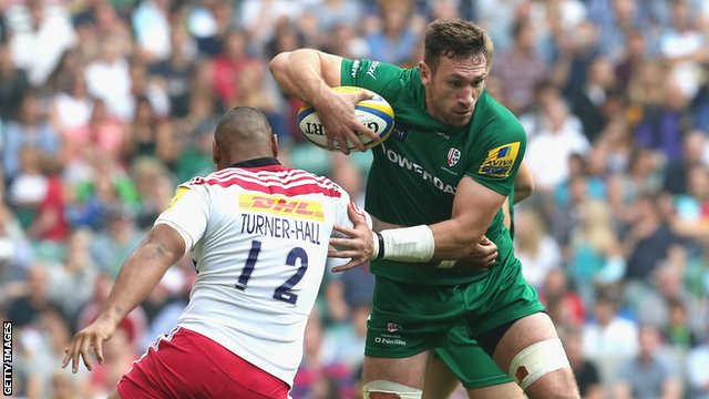 Tom Guest in action for London Irish