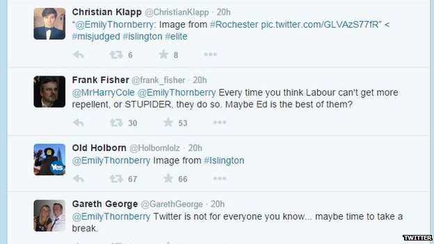 Tweets to Emily Thornberry
