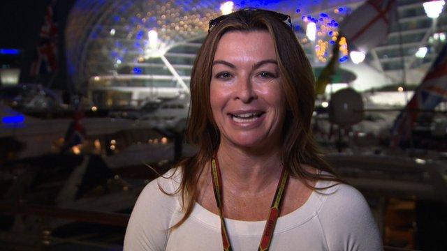 F1 presenter Suzi Perry