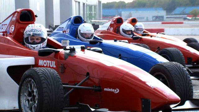 Snooker stars waiting to drive at Silverstone