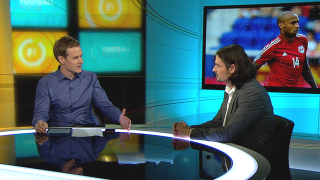 Dan Walker and Lutz Pfannenstiel on Football Focus