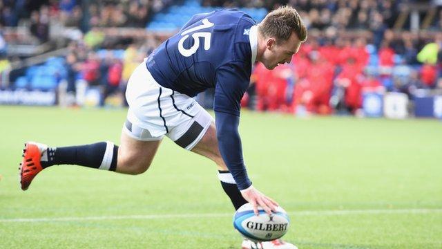 Autumn Internationals: Scotland 37-12 Tonga highlights