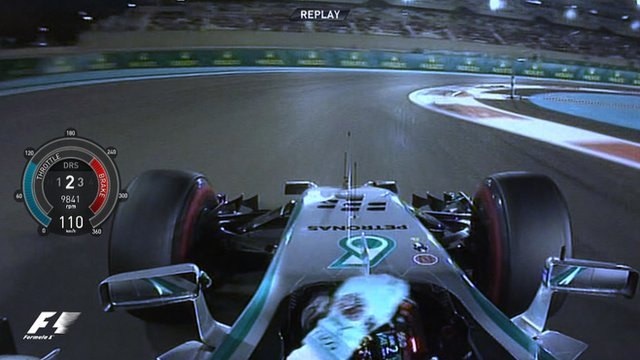 Mercedes' Nico Rosberg during pole lap in Abu Dhabi