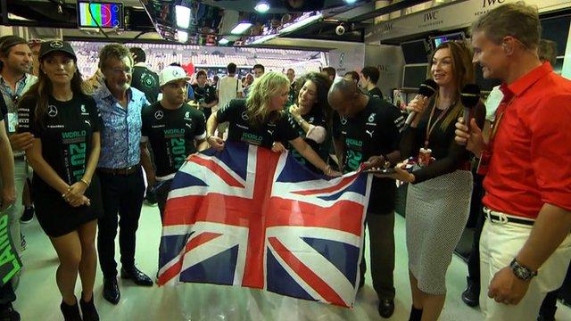 Lewis Hamilton's family celebrate title