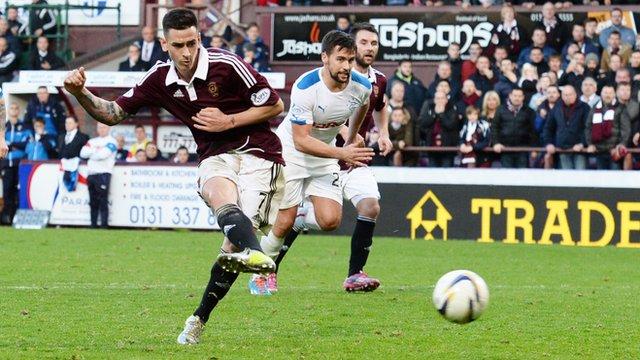 Jamie Walker scores for Hearts