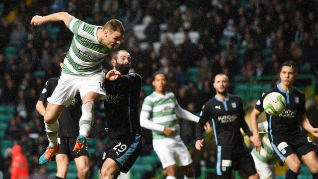 Anthony Stokes heads home for Celtic