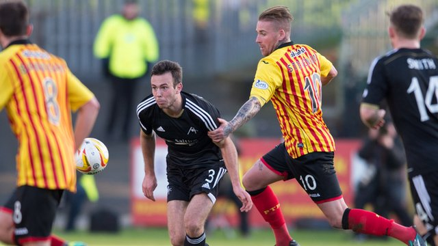 Partick Thistle lost to Aberdeen in Sunday's Premiership match