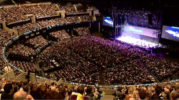 About 12,000 people were in Glasgow's Hydro arena for the event
