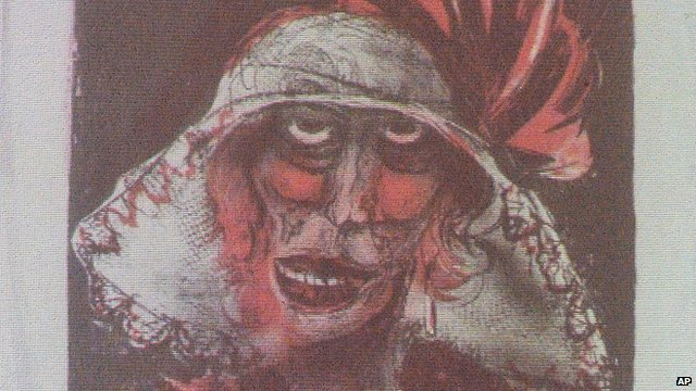 A painting by Otto Dix shown in Augsburg, southern Germany, last year