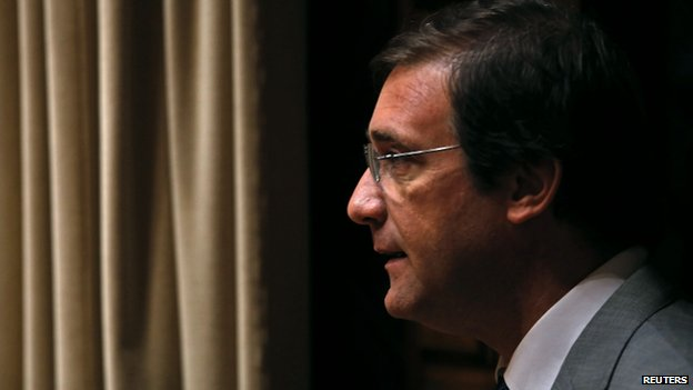 Portuguese PM Pedro Passos Coelho (file pic)