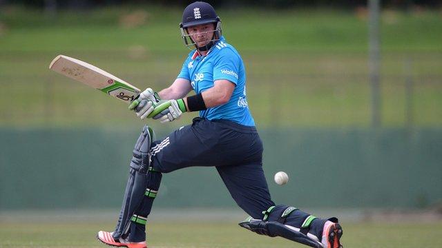 England batsman Ian Bell in action against Sri Lanka A
