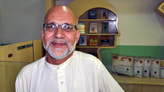 Afghan psychiatrist Nader Alemi in his clinic in Mazar-e-Sharif