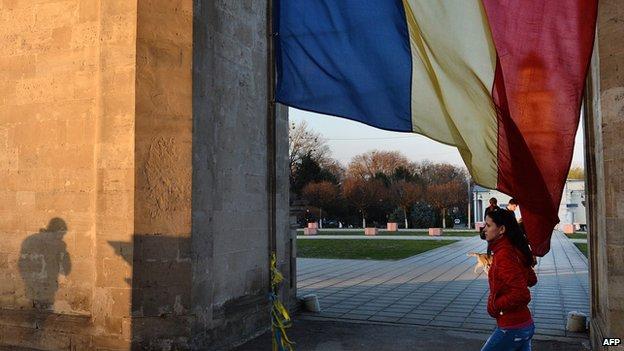 Street scene in the Moldovan capital, Chisinau.