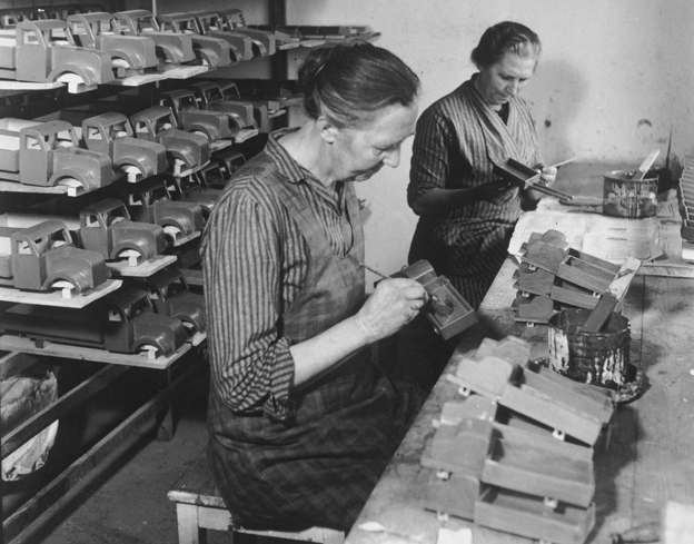 Lego factory in the 1940s