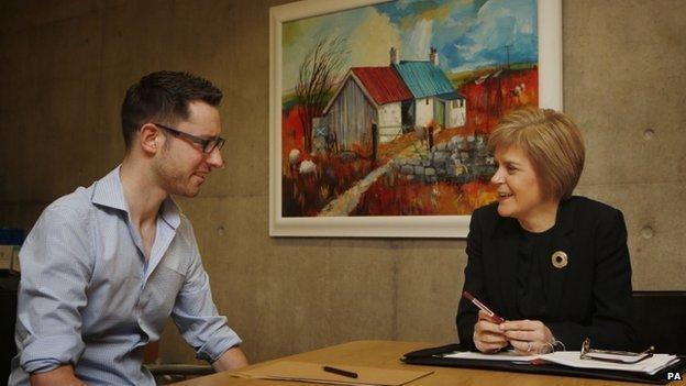 Gordon Aiken meets Nicola Sturgeon
