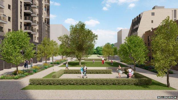 Dumballs Road regeneration scheme - artist impression