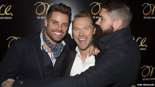 Ronan Keating with Keith Duffy and Shane Lynch