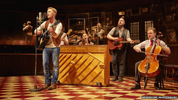 Ronan Keating (left) on stage in Once