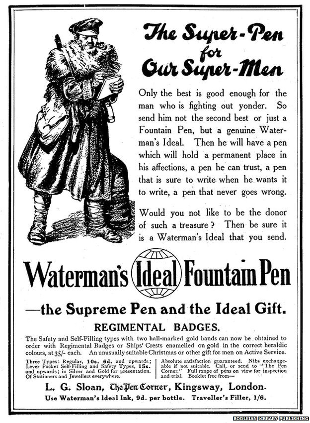 Waterman's Ideal Fountain Pen ad