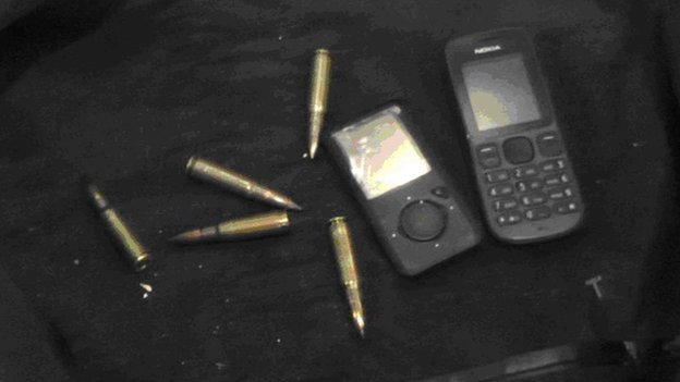 Ammunition and mobile phone seized at Dover port