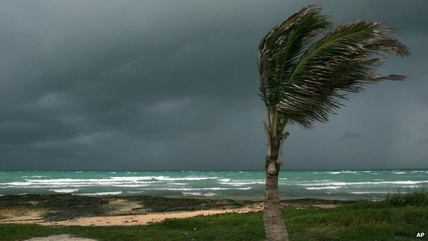 Tropical storm in the Bahamas