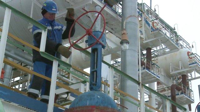Russian oil worker