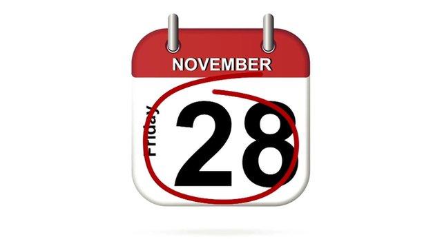 Calendar shows Friday 28 November