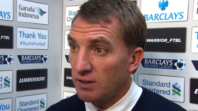 Brendan Rodgers praised his Liverpool players after their late win at home to Stoke