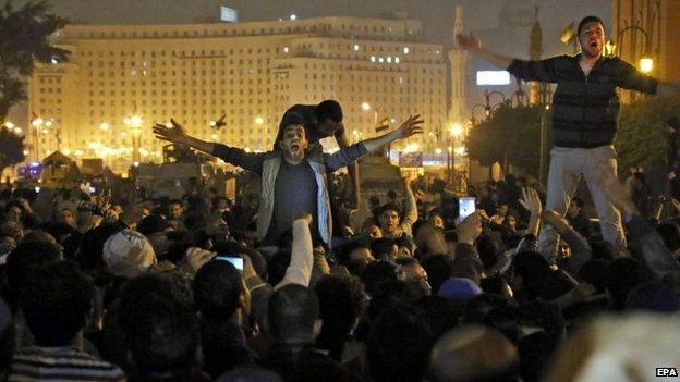 Protesters on Tahrir Square - 29 November
