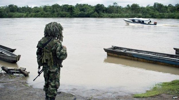 Soldier in Choco province, Colombia, 19 Nov 14