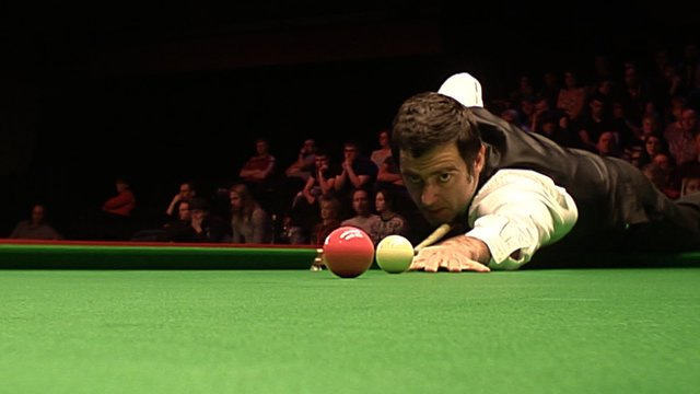 Ronnie O'Sullivan makes a break of 106 to take the fifth frame and control of his second round match with Peter Lines at the UK Snooker Championships