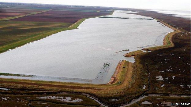 Flooded fields at Friskney, December 2013
