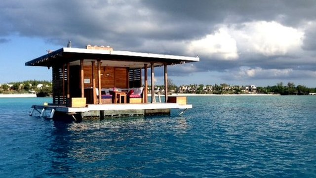 The underwater hotel from afar