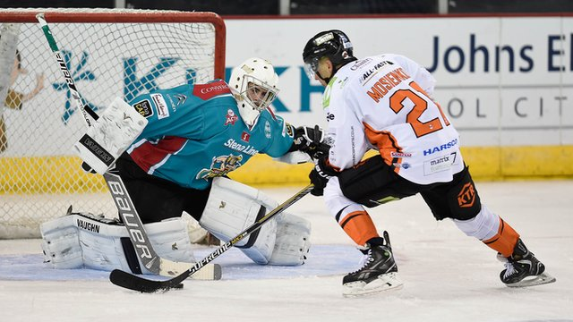 The Belfast Giants beat the Sheffield Steelers in a penalty shoot-out