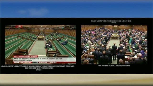 Internet graphic of Parliamentary scenes