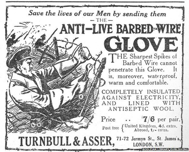 Anti-live barbed-wire glove advert