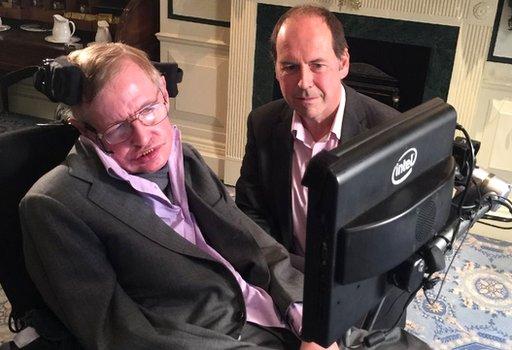 Prof Stephen Hawking and Rory Cellan-Jones