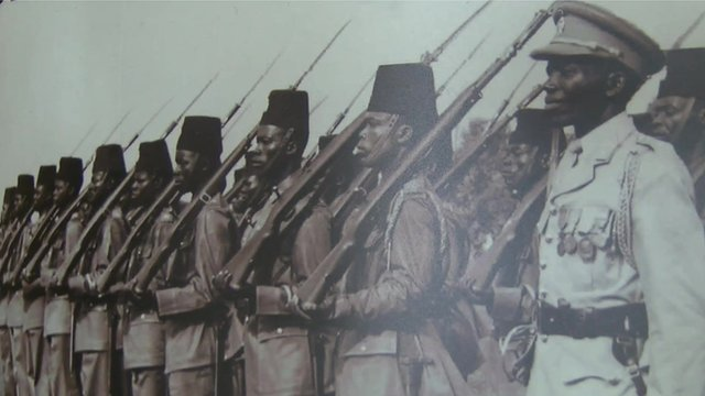 Congolese WW1 troops