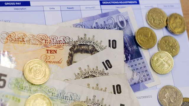 Cash and payslips