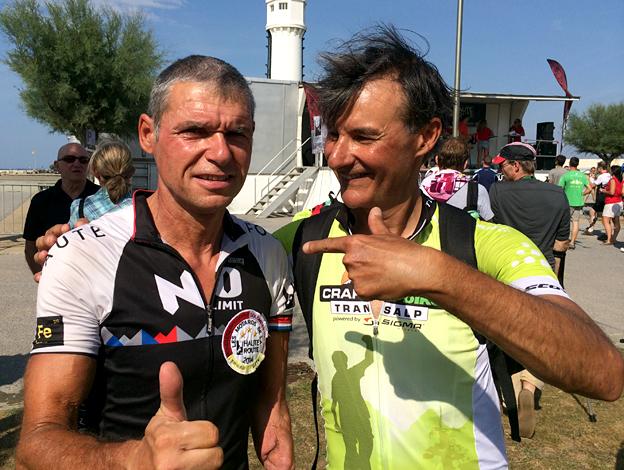 Christian Haettich with fellow Triple Crown rider Nuno Henrique Luz