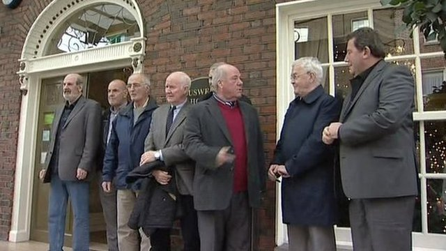 """Nine of the original """"hooded men"""" were in Dublin recently to hear a call for the Irish government to take the UK to the European Court"""