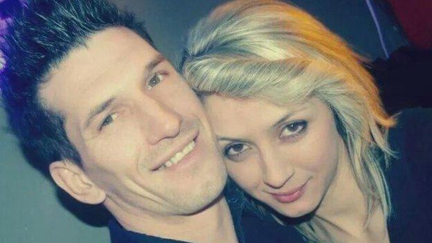 Zemir Begic and his fiance, Arjana Mujkanovic.