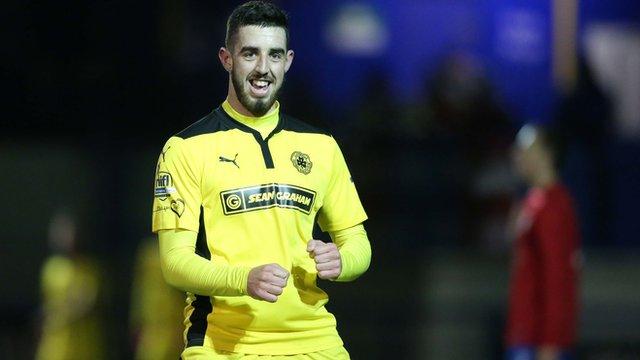 Cliftonville striker Joe Gormley scored his side's winner in extra-time