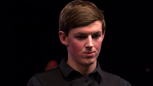 Snooker player James Cahill at the UK Championship