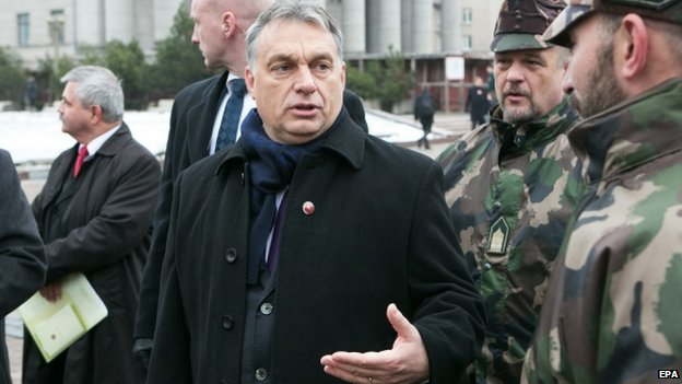 Hungarian PM Viktor Orban on a visit to Lithuania (23 Nov)