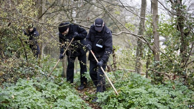 Police teams searching