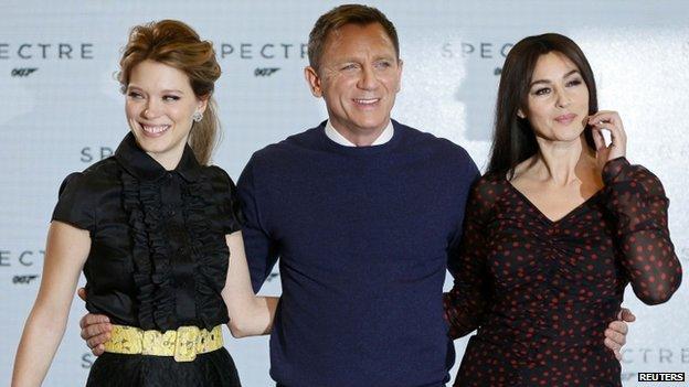 Daniel Craig with Lea Seydoux (left) and Monica Bellucci