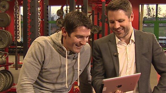 James Hook and Gareth Rhys Owen